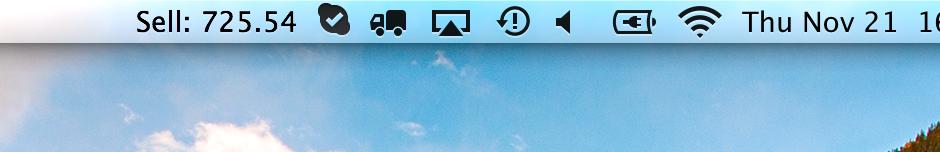 用 Script (Shell、Perl、Python、...) 在 Mac OS X 的 Menu Bar 上面顯示資訊
